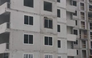 Пожар на стройке 2 дома ЖК Цветной БУльвар